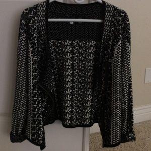 Black and white blazer